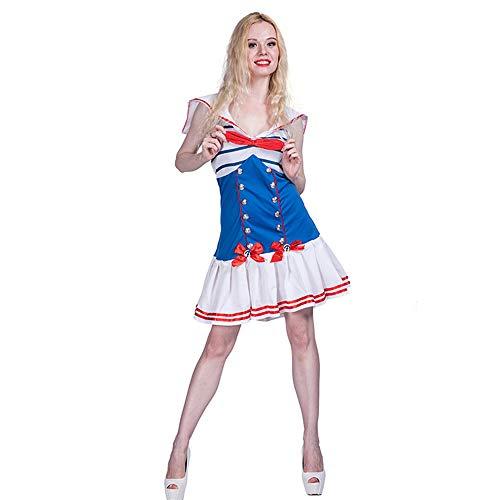 CAGYMJ Cosplay Kleidung Damenrock,Moon Matrosenanzug Mittelalterliche Retro Bühnenperformance Kleid,Ghost Festival Halloween Maskerade - Kostüm Zombie Homme