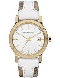 BURBERRY BU9110 - Reloj para mujeres, correa de cuero