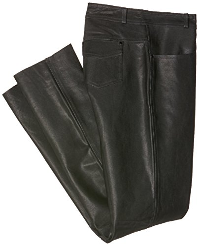Roleff Pantalón para Moto de Cuero Racewear, Negro, 44