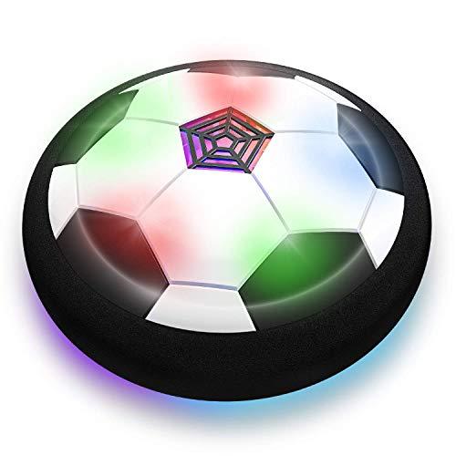 COSMOERY Air Power Fußball, Hover Power Ball Spielball Indoor Fußball mit LED Beleuchtung Geschenk für Kinder.