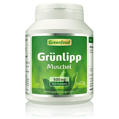 Grünlippmuschel, 500 mg, hochdosierter Extrakt, 120 Vegi-Kapseln - OHNE künstliche Zusätze. Ohne Gentechnik.