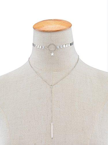 aukmla collar de perlas cadena, Fashion larga colgante Gargantilla para las mujeres y las niñas