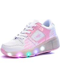 Sollomensi Zapatillas con Ruedas Sola Ronda Para Skate Zapatos Deportivas con Luces LED Niños Mujer Hombre