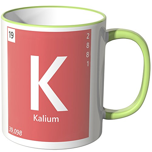 "Wandkings® Tasse, Element Kalium ""K"" - HELLGRÜN"