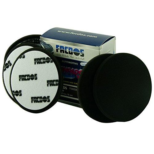 FACDOS Fresh-Pad Schwarz Soft Ø 150mm, 5 St. | für Hochglanz- & Anti-Hologramm-Polituren | Weiche Polier-Scheiben | Professionelle Lackpolierung | Lackaufarbeitung für alle gängigen Lackarten - Die Schwarze Hochglanz-finish