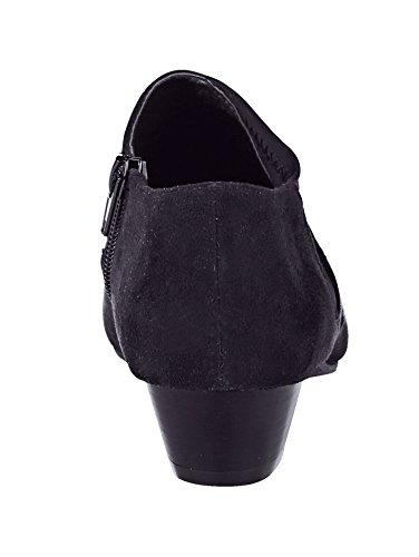 Damen Ankle Boot mit elastischem Obermaterial kombiniert by Liva Loop Schwarz