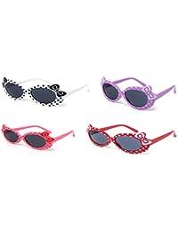 1 x Schwarz 1 x pink 1 x weiß gefärbt Kinder Girls stylish cute Designer-Stil Sonnenbrillen hohe Qualität mit einem Bogen und Herz-Stil UV400 Sonnenbrille Schattierungen UVA UV-w-Schutz z2rcTkJXq