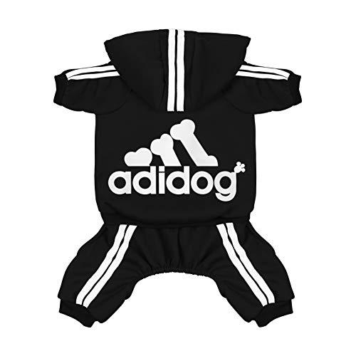 Scheppend Super-Niedliche Adidog Sports Jacke für Haustiere, Kleidung, Hoodie aus Baumwolle, kleine, mittlere große Hunde, Pullover, Winter-Outfits für Welpen, weich warm T-Shirt Sweatshirt -