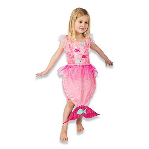 Kinder (3-6 Jahre) - Meerjungfrau Kleid Kinder - Rosa - Lucy Locket (104) (Kleine Meerjungfrau Kostüm Zubehör)
