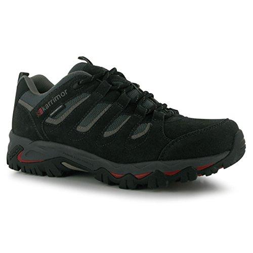 Karrimor Mens Mount Low Walking Shoes Lace Up Treking Hiking Weathertite Black...