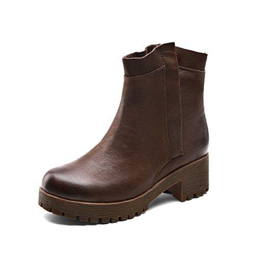 Rétro en automne et en hivernales des bottes/Rugueuse avec tube court Martin bottes/ Ms de rotule avec bottes courtes A