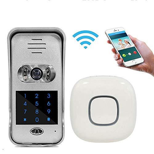 LMtt Smart Video Doorbell Wireless Home Security Camera, 2-Way Talk 720P, Night Vision, PIR Detection, APP Control, Remote Unlock, Tamper Alarm Remote Door Unlock