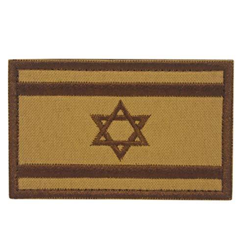 Cobra Tactical Solutions Military Besticktes Patch Israel Israeli Khaki Flag Flagge mit Klettverschluss für Airsoft/Paintball für Taktische - Swat Sniper Kostüm