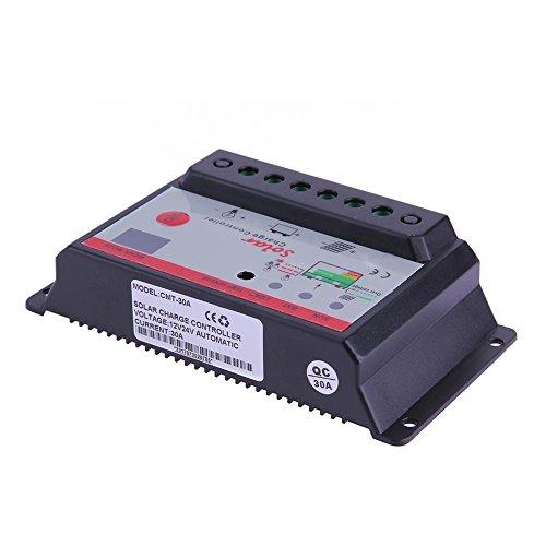 anysell 12V 24V Solarpanel Akku Batterie Laderegler Lampe Regulator Timer (30A)