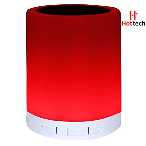 Hottech 6 in 1 smart Tap Sensor Bluetooth Lamp Speaker With LED Light