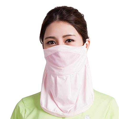 ZPF Sonnenschutzmaske, Anti-UV-Staubschutz Wiederverwendbare atmungsaktive Sonnenschutzmasken für Frauen, geeignet für Outdoor, Sport, Angeln, mit Nackenschutz