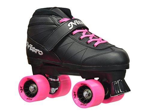 Epic Skates 2016Epic Super Nitro-5Quad Speed Roller Skates, rose (Kinder-roller Rink-skates)