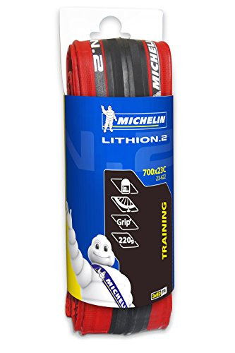 Couverture Michelin Lithion, Rouge, 700 x 23C