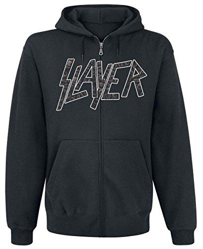 Slayer Divine Intervention Sweat à capuche zippé noir Noir