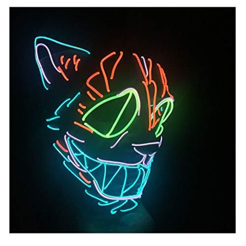 Für Clown Kostüm Scary Erwachsene - WSJ Neon Nightlife Halloween Gruselige Maske Kostüm Party Scary Clown Maske Herren Vollgesichtsmasken Kostüm Erwachsene,Rot
