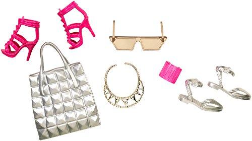 Mattel - Barbie Scarpe e Accessori Moda, Rosa e Argento