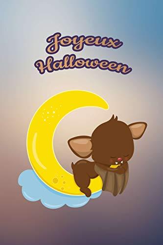 Joyeux Halloween: Pour nos petits : Petit carnet de notes de 121 pages blanches avec couverture et pages sur le thème d'Halloween par Virginie Polissou