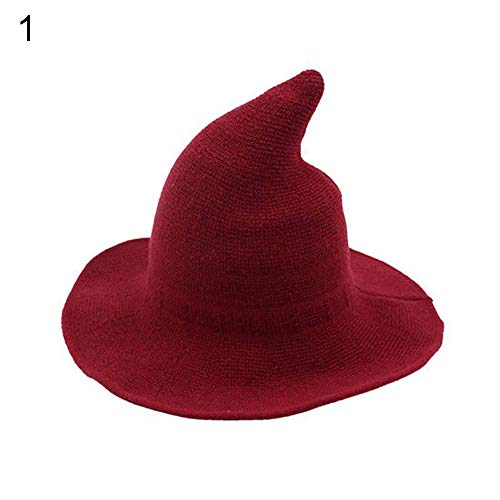 beiguoxia Trendy Hat Fashion Korean Knitted Pointy Witch Bucket Hat Warm Breathable Women Winter Cap Clothing Accessories