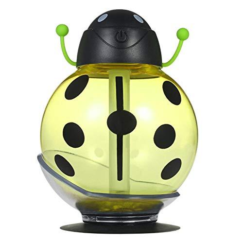 Sunneey Mini umidificatore purificatore d'Aria luci LED USB per Auto diffusore di aromi vaporizzatore Creativo Luce con Ventosa per Auto Giallo