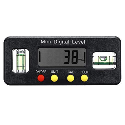 SGerste Digitalanzeige Neigungsmesser Winkelmesser Messbereich 4 x 90° Elektronische Wasserwaage
