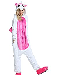 Misslight pijama o disfraz de unicornio unisex para niño o adulto Pink with Wing Large