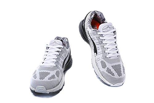 Onemix Herren Damen Leichte Tennisschuhe Für Tennis Mit Dämpfung,Atmungsaktiv Schuhe Trainingsschuhe,Gr 36-45 Weiß / Grau