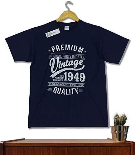 1948 Vintage Year Aged To Perfection Regalo Di Compleanno Per 70 Anni Maglietta Da Uomo Blu Marino Xl