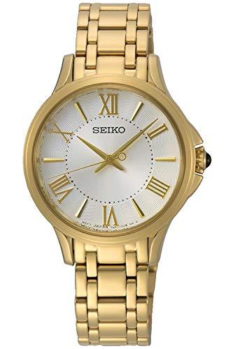 Seiko ladies orologio Donna Analogico Al quarzo con cinturino in Acciaio INOX placcato SRZ528P1