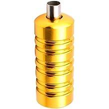 Gazechimp Apretón de Aleación de Aluminio de Tatuaje Mango Grips Tip Tubo de Aguja Tattoo Spray - Oro