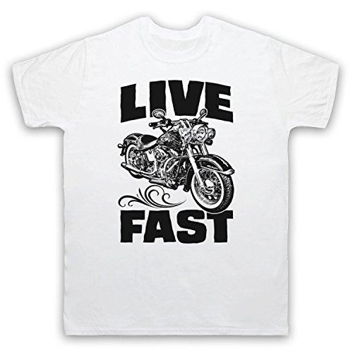 Live Fast Motorbike Herren T-Shirt Weis