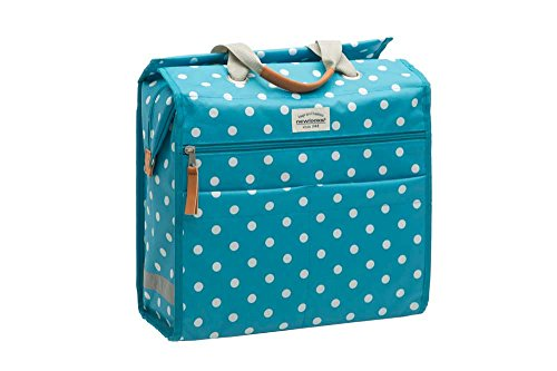 New Looxs Lilly polka blue Einkaufstasch Fahrradtasche Shoppingtasche