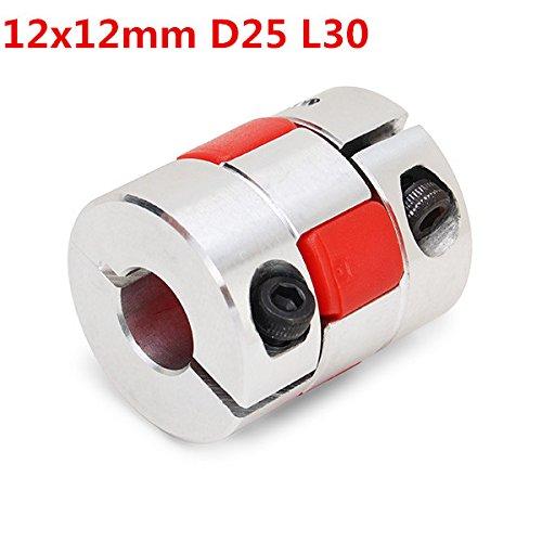 Hitommy 12mm * 12mm Aluminium Flexible Spider Schaft Kupplung od25mm X L30mm CNC Stepper Motor Kopplungskabel