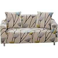 Sofa Slipcover Stretch Fabric Flower Bird Pattern Elastic Chair Loveseat Couch Settee Sofa Covers 1-Piece Pet Dog Protector (3 Seater, Dandelion)