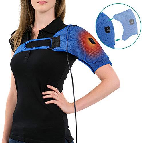 Beheizte Druck-Schulterstütze, Therapie-Schulterstütze für gerissene Rotatorenmanschette, Dislocated AC Joint, Sehnenentzündung, Wiederherstellung der Operation mit 3 Temperaturarten (104-130 cm) 46-in-1 Usb