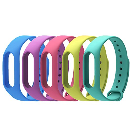 COOSA, Pack de 5 correas Recambio pBrazalete Extensibles coloridos impermeables para reemplazo Pulse