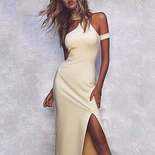Jessboy Sexy Frauen-Sommer-Sleeveless O-Ansatz festes Abendparty-Minikleid Somme Abend Party Kleid