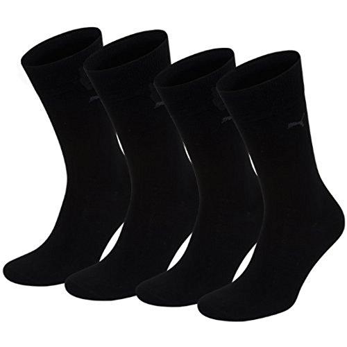 Puma Classic Casual Business-Packung mit 4Paar Socken für Herren, Herren, Nero - Nero/Nero, 39-42 -
