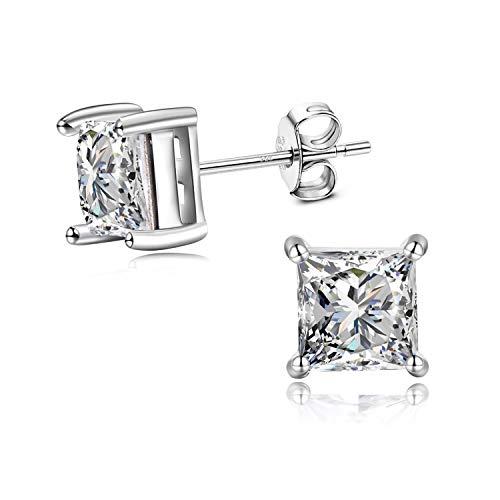 Ohrstecker 925 Silber Zirkonia Ohrringe Damen Herren mit Swarovski Kristallen (Herren Ohrringe Ohrstecker Kristall)