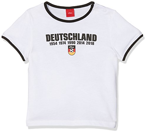 s.Oliver Baby-Unisex T-Shirt 59.802.32.6961, Weiß (White 0100), 86 (Fußball-baby-t-shirt)
