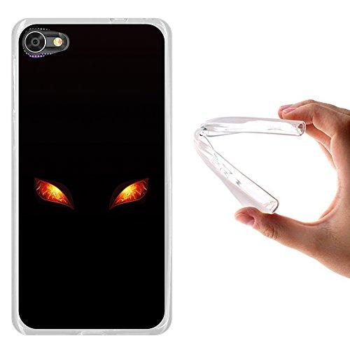 WoowCase Alcatel A5 LED Hülle, Handyhülle Silikon für [ Alcatel A5 LED ] Feueraugen Handytasche Handy Cover Case Schutzhülle Flexible TPU - Transparent