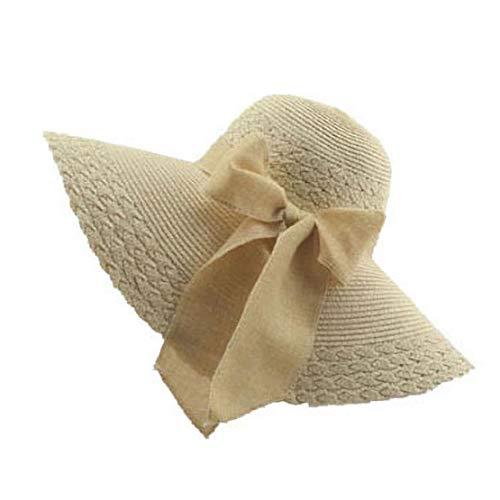 Fashion Große Größen-Frühlings-Sommer-Schutz-Strand-Hut Bow Klassische Feste Farben-beiläufige Sonnenhut für Frauen