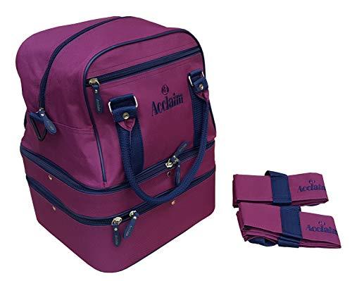 Acclaim Blyth Nylon 4 Bowling-Ebenen, flach, grün, Kurze Matte, Mini Triple Decker Bowls Bag und...
