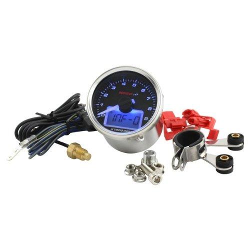 Drehzahlmesser KOSO GP Style II Digital Rund Schwarz 9000RPM