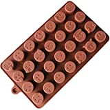 Ogquaton Molde de Chocolate de Pastel de Chocolate Emoji Premium Fondant decoración Molde
