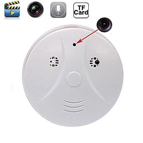 Mengshen® HD 1080p WiFi Spy IP Camera Nanny Cam Hidden Smoke Detector Motion Detection DVR + Remote Control MS-WH09